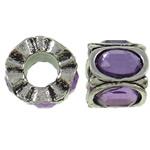 Beads European aliazh zink, Alloy zink, Daulle, Ngjyra antike argjendi praruar, pa karrem & me diamant i rremë, asnjë, , nikel çojë \x26amp; kadmium falas, 11x8mm, : 4.5mm, 10PC/Qese,  Qese