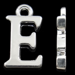 Pendants alfabet Zink Alloy, Alloy zink, Letër, Ngjyra argjend praruar, asnjë, asnjë, , nikel çojë \x26amp; kadmium falas, 15.50x9x2mm, : 2mm, 10PC/Qese,  Qese