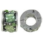 Beads European aliazh zink, Alloy zink, Petull e ëmbël në formë gjevreku, Ngjyra antike argjendi praruar, pa karrem, asnjë, , nikel çojë \x26amp; kadmium falas, 10.5x7.3mm, : 5.5mm, 10PC/Qese,  Qese