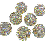 Beads diamant i rremë Rrëshirë, Rrëshirë diamant i rremë, Daulle, Ngjyra AB kromuar, asnjë, trëndafili dritë, 12x14mm, : 2.5mm, 100PC/Qese,  Qese