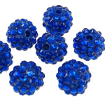 Beads diamant i rremë Rrëshirë, Rrëshirë diamant i rremë, Daulle, asnjë, i tejdukshëm, blu, 12x14mm, : 2.5mm, 100PC/Qese,  Qese