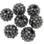 Beads diamant i rremë Rrëshirë, Rrëshirë diamant i rremë, Daulle, asnjë, i tejdukshëm, gri, 14x16mm, : 2mm, 100PC/Qese,  Qese