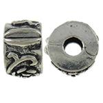 Tunxh European Clip, Rondelle, Ngjyra antike argjendi praruar, asnjë, asnjë, , nikel çojë \x26amp; kadmium falas, 10.5x6.7mm, : 3.5mm, 10PC/Qese,  Qese