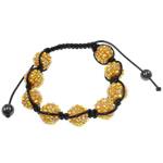 Rrëshirë Shamballa Bracelets, Round, punuar me dorë, me diamant i rremë, Diell, 14.8mm, : 7.5Inç,  7.5Inç,
