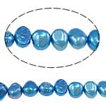 Barok Beads kulturuar Pearl ujërave të ëmbla, Pearl kulturuar ujërave të ëmbla, Nuggets, i lyer, 6-7mm, : 0.8mm, :14.7Inç,  14.7Inç,