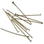 Iron Headpin, Shape Tjera, Ngjyra antike bronz i praruar, asnjë, asnjë, , nikel çojë \x26amp; kadmium falas, 0.7x26mm, 11800PC/KG,  KG