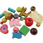 Beads druri, Shape përziera, asnjë, i përzier, ngjyra të përziera, 6-50mm, : 1-5mm,  Qese