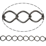Stainless Steel Eyepins, Hekur, Petull e ëmbël në formë gjevreku, plumbit ngjyrë të zezë praruar, asnjë, asnjë, , nikel çojë \x26amp; kadmium falas, 10x12.50x1.40mm, :25m,  PC