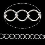 Stainless Steel Eyepins, Hekur, Petull e ëmbël në formë gjevreku, Ngjyra argjend praruar, asnjë, asnjë, , nikel çojë \x26amp; kadmium falas, 8x10x1.40mm, :25m,  PC