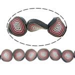 Beads polimer balta, Polymer Clay, Kthesë, asnjë, asnjë, asnjë, 21x21x5mm, : 1.2mm, : 16Inç, 10Fillesat/Shumë,  Shumë