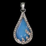Deti Pendants opal, Deti Opal, with Tunxh, Lot, natyror, me diamant i rremë, asnjë, 20.20x41.50x9.50mm, : 5.5x7.2mm, 10PC/Qese,  Qese