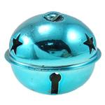 Hekuri Pendants Bell, Zile, pikturë, asnjë, Skyblue, , nikel çojë \x26amp; kadmium falas, 50x43mm, : 9x5mm, 50PC/Qese,  Qese