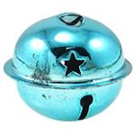 Hekuri Pendants Bell, Zile, pikturë, asnjë, Skyblue, , nikel çojë \x26amp; kadmium falas, 40x34mm, : 5x3mm, 50PC/Qese,  Qese