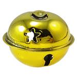 Hekuri Pendants Bell, Zile, pikturë, asnjë, i verdhë, , nikel çojë \x26amp; kadmium falas, 35x28mm, : 6x3mm, 100PC/Qese,  Qese