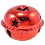 Hekuri Pendants Bell, Zile, pikturë, asnjë, i kuq, , nikel çojë \x26amp; kadmium falas, 32x26mm, : 7x3mm, 100PC/Qese,  Qese
