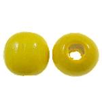 Beads druri, Round, i lyer, asnjë, i verdhë, 18mm, : 5mm, 310PC/Qese,  Qese