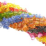 Beads Crystal, Kristal, Nuggets, asnjë, kërcitje, ngjyra të përziera, 6-9x6-2x2-7mm, : 34Inç, 20Fillesat/Shumë,  Shumë