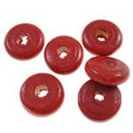 Beads druri, Heishi, i lyer, asnjë, i kuq, 10x4mm, : 3mm, 3330PC/Qese,  Qese
