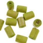 Beads druri, Tub, i lyer, asnjë, jeshile ulliri, 4x5mm, : 1.5mm, 12500PC/Qese,  Qese