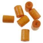 Beads druri, Tub, i lyer, asnjë, portokall, 4x5mm, : 1.5mm, 12500PC/Qese,  Qese