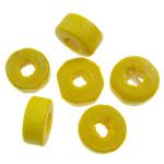 Beads druri, Heishi, i lyer, asnjë, i verdhë, 8x4mm, : 3mm, 5000PC/Qese,  Qese
