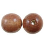 Beads druri, Round, i lyer, asnjë, ngjyrë kafe, 20mm, : 4mm, 210PC/Qese,  Qese