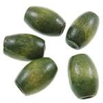 Beads druri, Daulle, i lyer, asnjë, Ushtria Kamuflimi gjelbër, 6x10mm, : 2mm, 4095PC/Qese,  Qese