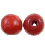 Beads druri, Round, i lyer, asnjë, i kuq, 18mm, : 5mm, 300PC/Qese,  Qese