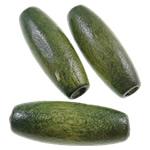 Beads druri, Oval, i lyer, asnjë, Ushtria Kamuflimi gjelbër, 8x22mm, : 3mm, 1150PC/Qese,  Qese
