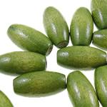 Beads druri, Oval, i lyer, asnjë, e gjelbër, 10x20mm, : 3.5mm, 525PC/Qese,  Qese