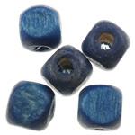 Beads druri, Kub, i lyer, asnjë, blu të errët, 5mm, : 2mm, 9255PC/Qese,  Qese