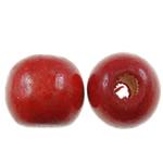Beads druri, Round, i lyer, asnjë, i kuq, 12mm, : 3.5mm, 890PC/Qese,  Qese