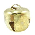 Hekuri Pendants Bell, Zile, ngjyra të ndritshme ari praruar, asnjë, asnjë, , nikel çojë \x26amp; kadmium falas, 13x14mm, : 4x2mm, 2000PC/Qese,  Qese