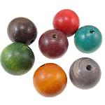 Beads druri, Round, i lyer, asnjë, ngjyra të përziera, 38x37mm, : 6mm, 22PC/Qese,  Qese