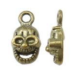 Pendants Skull Alloy zink, Kafkë, Ngjyra antike bronz i praruar, asnjë, asnjë, , nikel çojë \x26amp; kadmium falas, 18x14x5mm, : 2mm, 1110PC/KG,  KG
