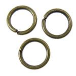 Iron Mbyllur Ring Jump, Hekur, Petull e ëmbël në formë gjevreku, Ngjyra antike bronz i praruar, asnjë, asnjë, , nikel çojë \x26amp; kadmium falas, 6x0.8mm, : 4.5mm, 20000PC/KG,  KG