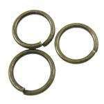 Iron Mbyllur Ring Jump, Hekur, Petull e ëmbël në formë gjevreku, Ngjyra antike bronz i praruar, asnjë, asnjë, , nikel çojë \x26amp; kadmium falas, 6x0.7mm, : 4.8mm, 23800PC/KG,  KG