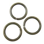 Iron Mbyllur Ring Jump, Hekur, Petull e ëmbël në formë gjevreku, Ngjyra antike bronz i praruar, asnjë, asnjë, , nikel çojë \x26amp; kadmium falas, 10x1.2mm, : 7.8mm, 4210PC/KG,  KG