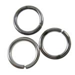 Iron Mbyllur Ring Jump, Hekur, Petull e ëmbël në formë gjevreku, plumbit ngjyrë të zezë praruar, asnjë, asnjë, , nikel çojë \x26amp; kadmium falas, 7x1mm, : 5.2mm, 8000PC/KG,  KG