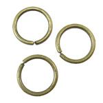Iron Mbyllur Ring Jump, Hekur, Petull e ëmbël në formë gjevreku, Ngjyra antike bronz i praruar, asnjë, asnjë, , nikel çojë \x26amp; kadmium falas, 0.9x8mm, : 6mm, 8770PC/KG,  KG