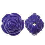 Beads Solid Color akrilik, Lule, asnjë, ngjyra të forta, vjollcë e errët, 20x17mm, : 2.5mm, 170PC/Qese,  Qese