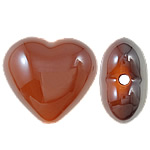 Beads UV akrilik Plating, Zemër, Plating UV, asnjë, portokalli thellë kuqalashe, 22x20x12mm, : 2.5mm, 165PC/Qese,  Qese