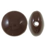 Beads Solid Color akrilik, Round Flat, asnjë, ngjyra të forta, ngjyrë kafe, 17x17x10mm, : 3mm, 355PC/Qese,  Qese