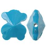 Beads Solid Color akrilik, Bear, asnjë, ngjyra të forta, blu, 21x25x14mm, : 2.5mm, 155PC/Qese,  Qese
