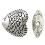 Beads Alloy zink Kafshëve, Peshk, Ngjyra antike argjendi praruar, asnjë, asnjë, , nikel çojë \x26amp; kadmium falas, 17x16x7mm, : 1mm, 200PC/KG,  KG