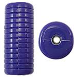 Beads Solid Color akrilik, Tub, asnjë, ngjyra të forta, vjollcë e errët, 12.50x11x30mm, : 3mm, 145PC/Qese,  Qese