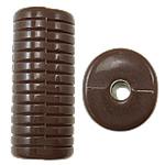 Beads Solid Color akrilik, Tub, asnjë, ngjyra të forta, ngjyrë të thellë kafe, 12.50x11x30mm, : 3mm, 145PC/Qese,  Qese