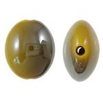 Beads UV akrilik Plating, Oval Flat, Plating UV, asnjë, i verdhë, 20.50x24x12mm, : 2.5mm, 140PC/Qese,  Qese