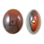 Beads UV akrilik Plating, Oval Flat, Plating UV, asnjë, portokalli thellë kuqalashe, 24x29x15mm, : 2.5mm, 80PC/Qese,  Qese
