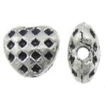 Beads Zink Alloy Zemra, Alloy zink, Zemër, Ngjyra antike argjendi praruar, asnjë, asnjë, , nikel çojë \x26amp; kadmium falas, 6x6x3.50mm, : 1mm, 2631PC/KG,  KG